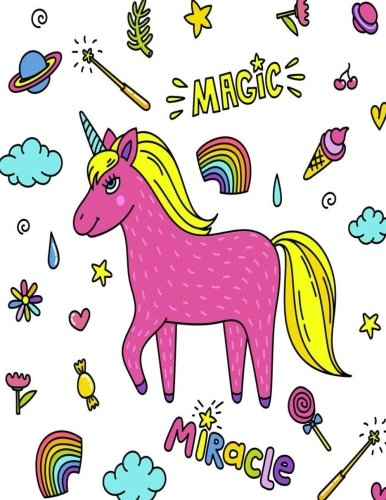 Magic Miracle: Kawaii Sketchbook for Girls/ Kids : 100 Pages of 8.5