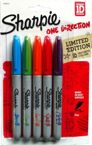 1D - One Direction / Favorite Colors - Limited Edition - Fine Point Sharpies by Sharpie
