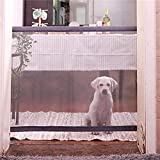 Magic Gate Portable Folding Safe Guard Install Anywhere for Pets Dog Cat Solated Gauze, Pet Dog Safety Enclosure Review
