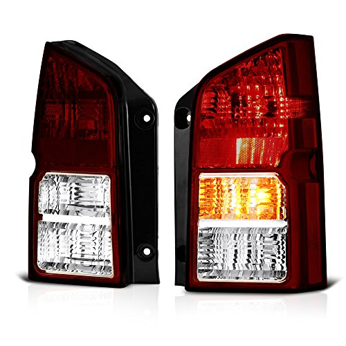 VIPMOTOZ Smoke Red Lens OE-Style Tail Light Lamp Assembly For 2005-2012 Nissan Pathfinder, Driver & Passenger Side