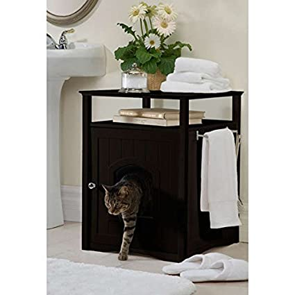 Amazon Com Kitty Espresso Comfort Room Hidden Litter Cat Box