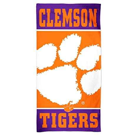 Officially Licensed 100% High Quality Materials new First Quality Clemson University Beach Towel Tigers