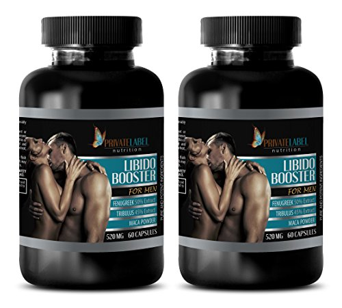 male enhancing pills increase size - LIBIDO BOOSTER FOR MEN 520Mg - tribulus capsules - 2 Bottles (120 Capsules) by Private Label