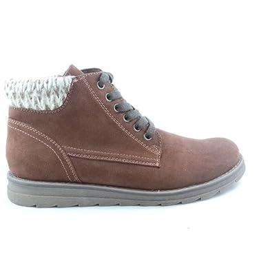 67f9e1b1e475 MARCO TOZZI 2/25208/29 Grana Brown Microfibre Lace-Up Ankle Boot:  Amazon.co.uk: Shoes & Bags