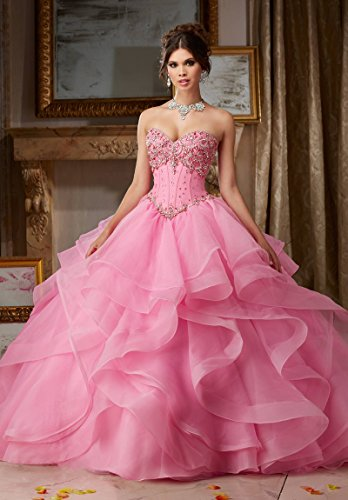e63cdc2af95 ABaowedding Women s Corset Sweet 16 Ball Gowns Puffy Quinceanera Dresses at  Amazon Women s Clothing store