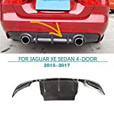 Rear Diffuser for Jaguar XE Sedan 4-Door 2015-2017 Carbon Fiber Lower Air Flow Diffuser Spoiler by Jun-star