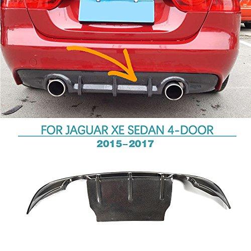 Rear Diffuser for Jaguar XE Sedan 4-Door 2015-2017 Carbon Fiber Lower Air Flow Diffuser Spoiler by Jun-star by Jun-star