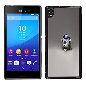 FU-Orionis Colorful Printed Hard Protective Back Case Cover Shell Skin for Sony Xperia M4 Aqua - R2 D2 Robot