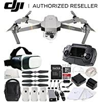 DJI Mavic Pro Platinum FLY MORE COMBO Collapsible Quadcopter Virtual Reality Bundle