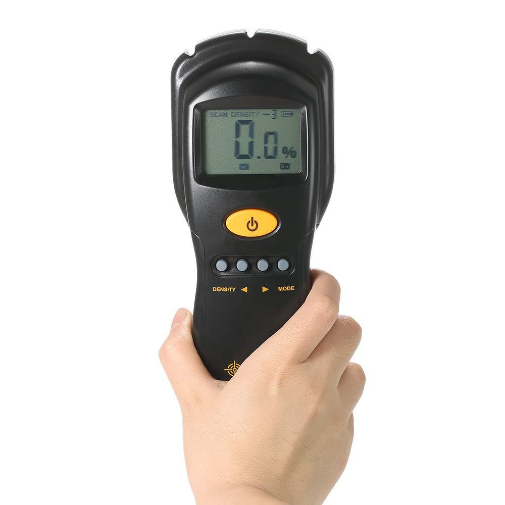 Digital hygrometer Moisture Meter for wood/cardboard Lumber Humidity Tester Fast & Precise Microwave Measurement LCD display