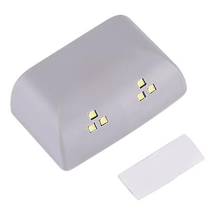 Led Luz Noctura con Sensor de Movimiento, Bisagra Sensor Luz Armario 6 LED Luz para