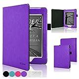 ACdream Nook GlowLight Plus Case, Folio Premium PU Leather Cover Case for Barnes & Noble Nook GlowLight Plus(can not fit Nook Glowlight 3), Purple