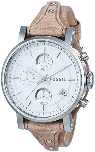 Fossil Damen-Armbanduhr Chronograph Quarz Leder ES3625
