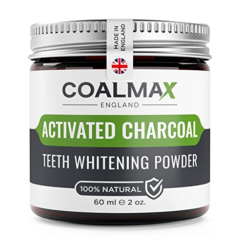 Activated Charcoal Teeth Whitening Powder – ★ 100% Natural, Vegan Teeth Whitener, Made in UK