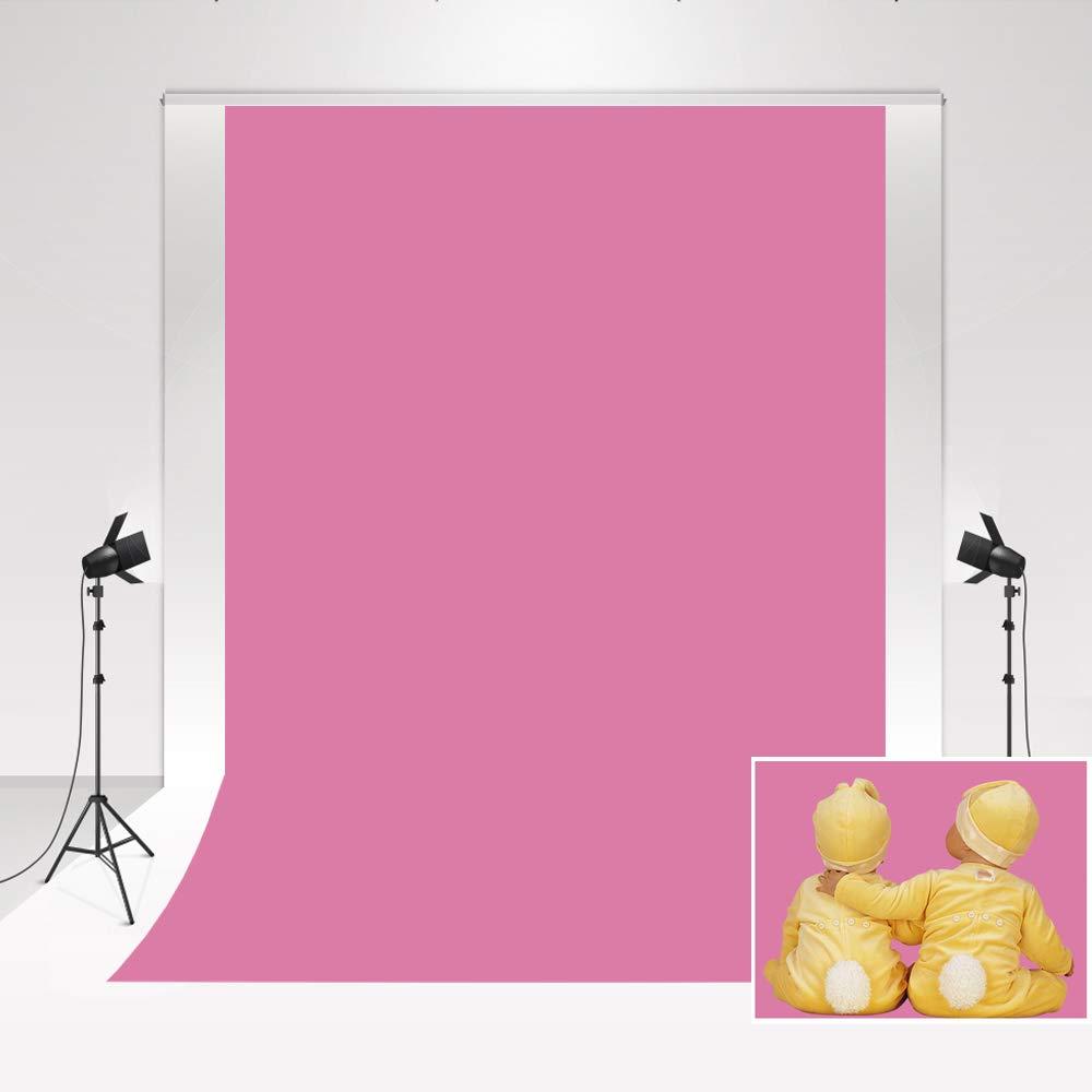 Kate Tel/ón de Fondo de fotograf/ía 1.5x2.2m Fondo de Foto de Microfibra Rosa s/ólido para Estudio de fotograf/ía de Retrato reci/én Nacido