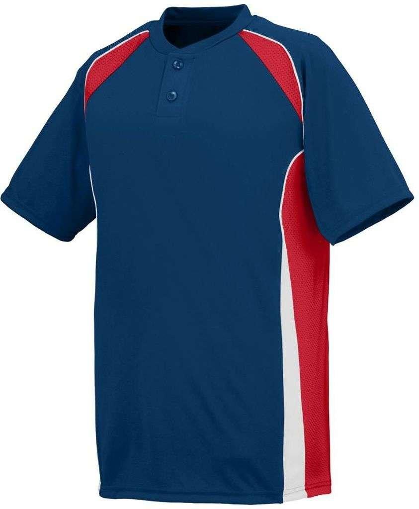 Augusta SportswearメンズベースHit Baseball Jersey B00HJTM25Q Medium|ネイビー/レッド/ホワイト ネイビー/レッド/ホワイト Medium