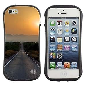 "Hypernova Slim Fit Dual Barniz Protector Caso Case Funda Para Apple iPhone SE / iPhone 5 / iPhone 5S [Sunset Beautiful Nature 77""]"