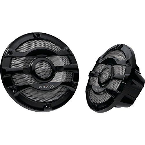 2) Kenwood 8 Inch 300 Watt Powersports/Marine Boat Black Speakers   KFC-2053MRW