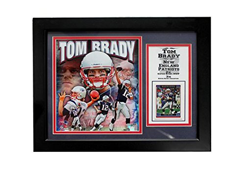 Encore Select 141 33 Nfl New England Patriots Deluxe Frame Tom Brady Print  11 Inch By 14 Inch