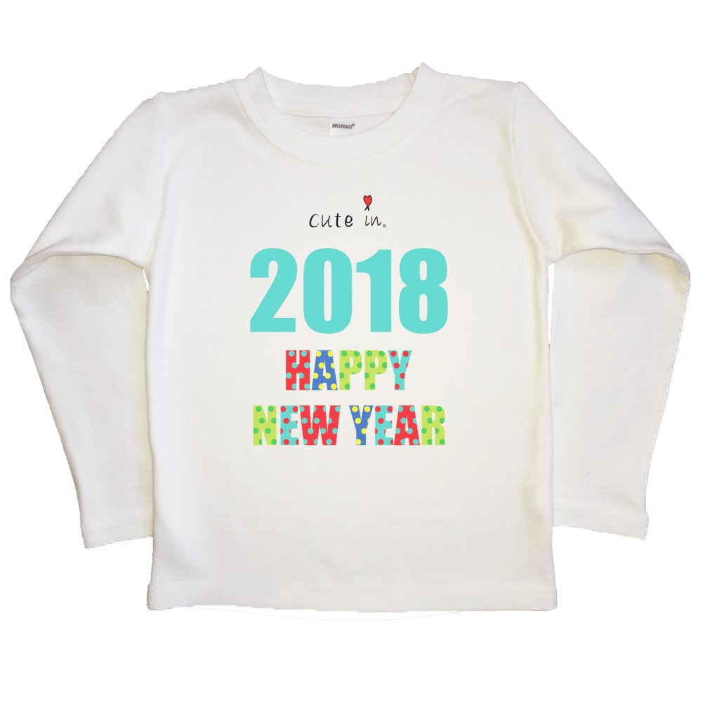 Cute in 2019 New Years Kids Long Sleeve T-Shirt//Toddler T-Shirt