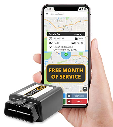 Aware GPS APAAS1P1 AwareGPS OBD 3G GPS Service with Free Month of Service, Vehicle Tracking Device, Car GPS and GPS System, OBD +1 Month (Best Fuel Mileage App)