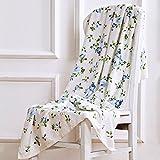 HOMEE Rose-Print Jacquard Bath Towel/The Soft Skin Water Absorbing Towel,D