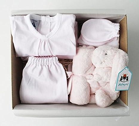 Cesta regalo bebé Primera puesta - Incluye pack 5 piezas recién ...