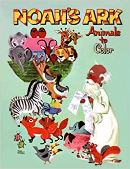 Noahs Ark Animals To Color Drawings Of Cute Vintage Illustrations Coloring Book Animal Pairs