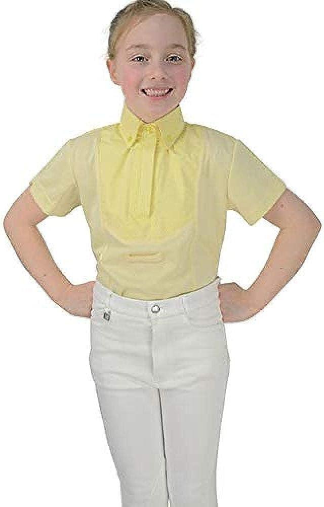 HyFASHION - Camisa de Manga Corta Infantil para Concurso de equitación Modelo Tilbury para niñas niños: Amazon.es: Ropa y accesorios