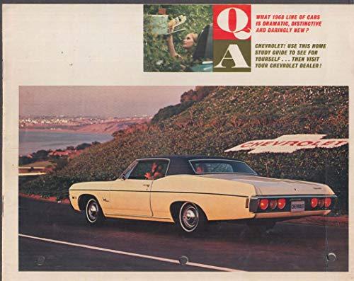 Chevrolet Home Study Guide 1968 Impala Corvette Camaro Chevelle Caprice