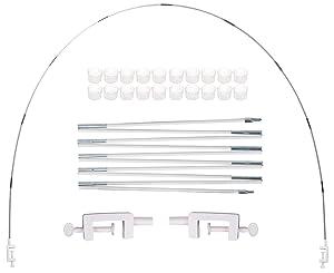 PILIN Kit de arco de globo blanco para diferentes tamaños de mesa para bodas de cumpleaños y fiestas de graduación
