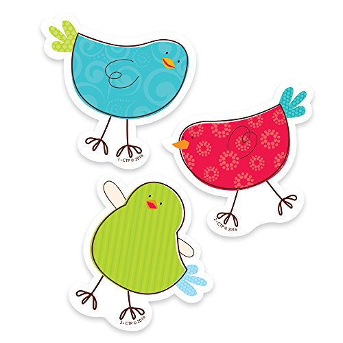 "Creative Teaching Press Tweeting Birds 3"" Designer Cut-Outs (0830)"