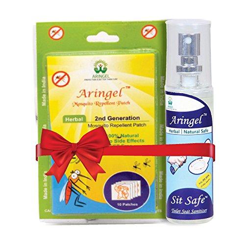Aringel Second Generation Patch (10 Pieces) with Sit Safe Toilet Seat Sanitizer (50ml)