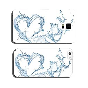 Heart from water splash with bubbles cell phone cover case Samsung S6