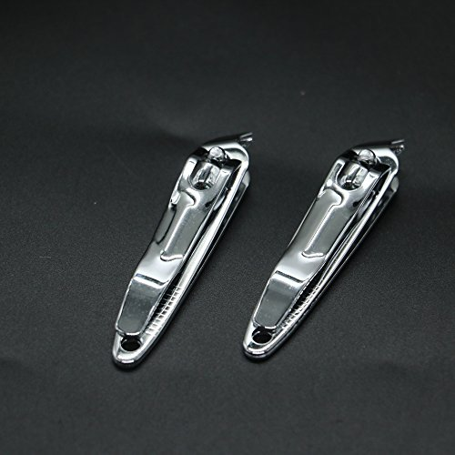 IDS Pack Of 10 Metal Slanted Edge Stainless Steel Nail Clipp