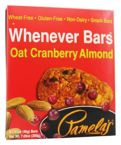 Pamela's Products - Whenever Bars Oat Cranberry Almond - 5 x 1.41 oz. Bars (pack of 2)