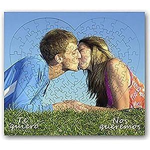 OyC Puzzle Corazon Personalizado con Foto, Imagen, Texto, Retrato, fotografia, Regalo, Parejas, Bonito 20