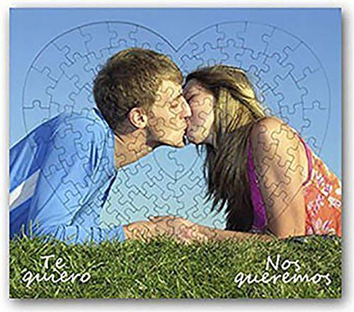 OyC Puzzle Corazon Personalizado con Foto, Imagen, Texto, Retrato, fotografia, Regalo, Parejas, Bonito 2