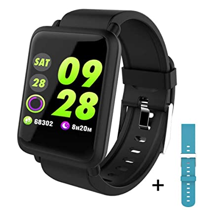 Fitness Tracker, Dosmix Activity Watch with Heart Rate, Blood Pressure Monitor, IP 68 Water-Resistant with Calorie Steps Sleep for Women Kids ...