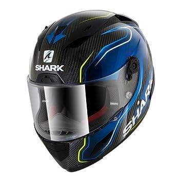 Shark de Hark – Race – Casco de Moto R Pro Carb Guintoli, Negro/