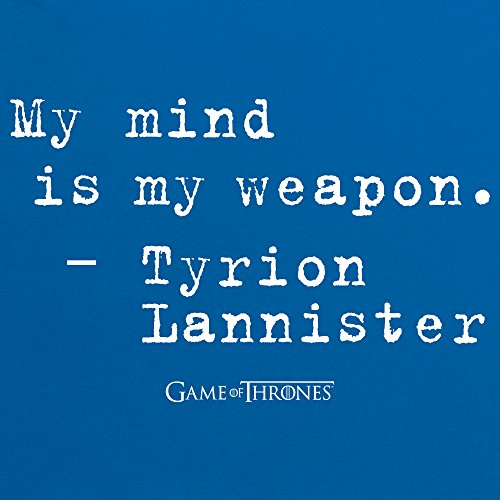 Official Game of Thrones - My Mind Quote Organic Camiseta, Para mujer Azul real
