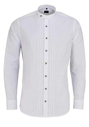 Online gehen beste Wahl ein paar Tage entfernt OLYMP Casual Hemd Langarm Stehkragen Trachtenknöpfe weiß ...