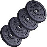 ScSPORTS - Pesi per bilanciere in ghisa, 4 x 5 kg, diametro foro 30 mm