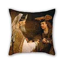 Oil Painting Aert De Gelder (Dutch - Ahimelech Giving The Sword Of Goliath To David Pillowcase 16 X 16 Inches / 40 By 40 Cm For Outdoor Deck Chair Pub Office Seat Teens Boys With 2 Sides