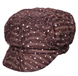 Turban Plus Chemo Hat Glitter Sequin Brown newsboy Fitted For Women With Cancer Chemo Hair Loss