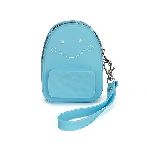 Amazon.com: Con forma de Mini mochila cartera Silicona cara ...