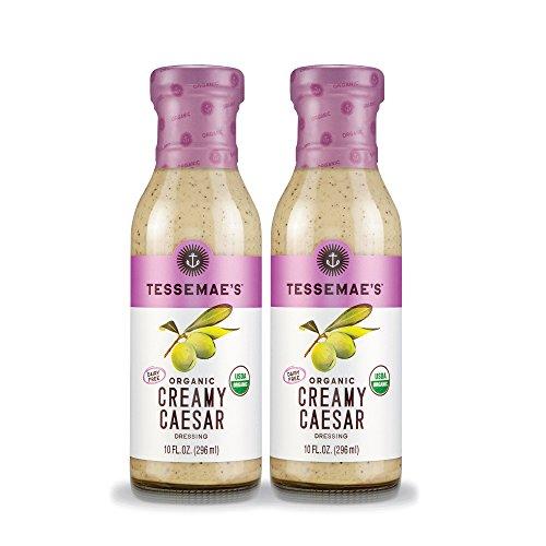 (Tessemae's All Natural Salad Dressing 2-Pack (Organic Creamy Caesar))