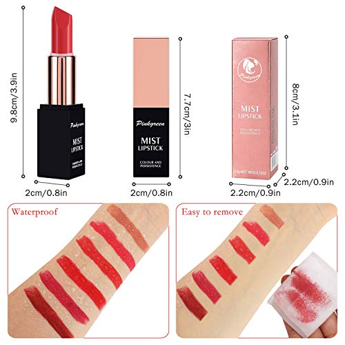 PINKGREEN Color Matte Lipstick, Waterproof Long Lasting Formula, Lip Makeup, Cruelty Free, Creamy Finish, Smart Shades, Safest Ingredients, Natural Smooth Lipsticks, Highly Pigmented(#2)