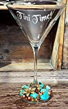 Tini Time! - Etched and Embellished Martini glass