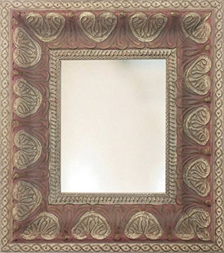 Vintage Pink & Cream Hearts Baroque Framed Wall Mirror
